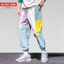 $enCountryForm.capitalKeyWord NZ - Aelfric Eden Color Block Patchwork Harajuku Joggers Men 2018 Hip Hop Harem Pants Male Casual Streetwear Swag Track Trousers UR63