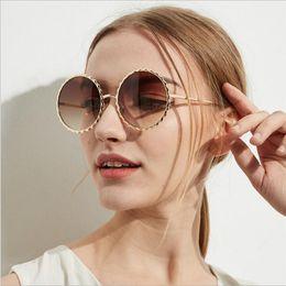 $enCountryForm.capitalKeyWord NZ - Fashion Gear Desinger Round Sunglasses Women Vintage eyewear Metal Frame Lens Shade for ladies Sun Glasses UV400