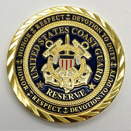 $enCountryForm.capitalKeyWord UK - 10 pcs The USCG United states coast guard semper paratus coins gold plated 40 mm badge collectible decoration coin