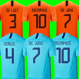 783a7c243c1a4 Top da equipe nacional de qualidade da tailândia camisa de futebol holandesa  2019 2020 DE JONG PROMES kits de futebol da Holanda camisa DE LIGT VAN DIJK  ...