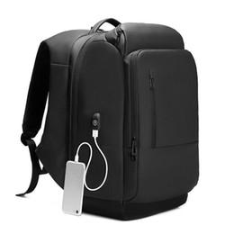 Backpacks For College Men Australia - 17 inch Laptop Backpack For Men Water Repellent Functional Rucksack with USB Charging Port Travel Backpacks Male