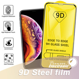Iphone mIrror screen online shopping - 9D Full Cover Glue Tempered Glass For NEW iPhone PRO XR XS MAS X Screen Protector For Samsung A80 A70 A60 A50 A40 Without package