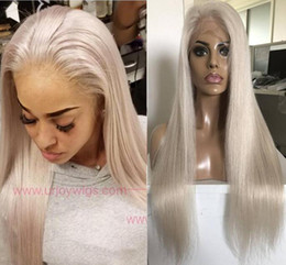 $enCountryForm.capitalKeyWord UK - Celebrity Wigs Lace Front Wig #60 Blonde Silky Straight 10A Grade Brazilian Virgin Human Hair Full Lace Wigs for Woman Fast Free Shipping