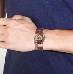 Новый кожаный мужской браслет из натуральной кожи кожаный браслет из нержавеющей стали