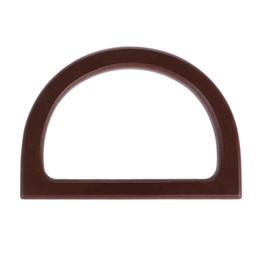 $enCountryForm.capitalKeyWord UK - Wooden Handle Replacement DIY Handbag Purse Frame Bag Accessories 3pcs set