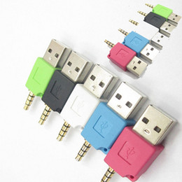 Shields Jack Canada - Mini 3.5mm Jack Plug USB Data Cable Charger Adapter For APPLE 2th Shuffle Electricical Accessorie USB Charging Connectors