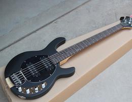 $enCountryForm.capitalKeyWord NZ - Free ShippingFactory Custom Matte Black 5-String Electric Bass Guitar with Neck-through Body,Rosewood Fingerboard,Offer Customized