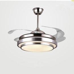 Modern Ceiling Fan Lights Lamps Remote Control ventilador de techo ventilateur plafond sans lumiere Fan Lighting Dining room Bed on Sale