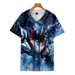 3ea3f12a5705da 3D Avengers 4 2019 Fashion Baseball T-Shirt Women Men College Casual  Harajuku Hot Hip Hop Street Baseball Tee Top Plus size 4XL