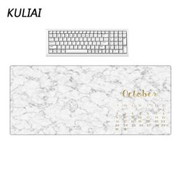 marble games NZ - XGZ New White and Black Gold Text Marble Pattern Mouse Pad 400X800X3MM Rubber Washable Home Office PC Laptop Games Mouse Pads