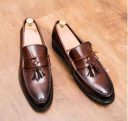 $enCountryForm.capitalKeyWord NZ - Newly Men Dress Shoes Handmade Brogue Style Party Leather Wedding Shoes Men Flats Leather Oxfords Formal Shoes