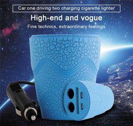 $enCountryForm.capitalKeyWord Australia - Cup Car Charger DC 12-24V LED Car-charger Dual USB Cigarette Lighter Splitter Multi-function For GPS DVR Phones Charge