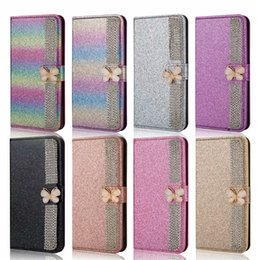 bf5a9d27946b Butterfly Magnetic Clasp Closure Glitter Bling Credit Card Wallet Case with  Kickstand and Flip case for Apple Phone xs max 8 7 Plus