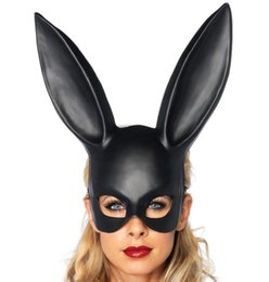 hot bar Australia - 2019 Hot Christmas Mask Bar Ktv Nightclub Halloween Masquerade Bunny Ear Mask Bunny Mask Halloween Creative Cosplay