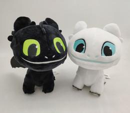 $enCountryForm.capitalKeyWord NZ - 16cm (6.3 inch) How to Train Your Dragon 3 Plush Toy Toothless Light Fury Soft Dragon Stuffed Animals Doll 2019 New Movie 2 Colors EMS C6388