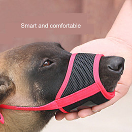 1PC regolabile mesh traspirante SmallLarge cane museruola anti corteccia Bite Dog Chew Museruole Accessori per animali prodotti di addestramento in Offerta