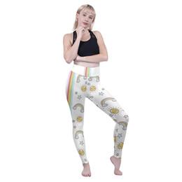 $enCountryForm.capitalKeyWord NZ - Girls High Waist Leggings Rainbow Star Smile Sun 3D Print Skinny Yoga Wear Pants Women Stretchy Jeggings Lady Full Length Trousers (Y52267)