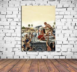 Digital frame leD online shopping - Sgt Kelly Is Leading A Woman s Brigade HD Canvas Print Home Decor Art Painting Unframed Framed