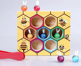 $enCountryForm.capitalKeyWord NZ - Cartoon bee clip insect catching game pairing intelligence puzzle toy one pcs for children playing
