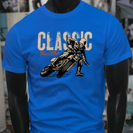 animal bikes NZ - CLASSIC RACE STUNT CLUB DUCATI Summer BIKES Mens Blue T-Shirt