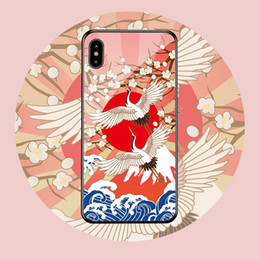 Chinese glasses online shopping - New creative glass mobile phone case for iphone11pro mate30 mobile phone shell Chinese style dhl free