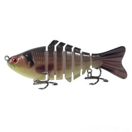 electric fishing lure UK - 8mbcN 5.12inch Electric Fishing Tackle USB Charging Swimbait 4Section Bait Crankbait Pesca Lure Vivid Fish Y191024