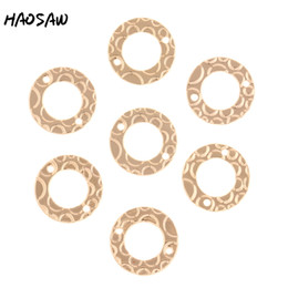 parts connections 2019 - HAOSAW 15MM 6Pcs Lot Round Connection Loop Accessories Part Jewelry Findings Earrings Accessories Handmade Jewelry disco