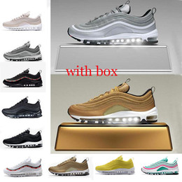 2019 97s Og Metalic Gold Sliver Bullet Triple Black SE South Beach Running  shoes designer Mens trainer Women sports Shoes sneakers with box ee3b8cb03