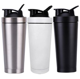 $enCountryForm.capitalKeyWord Australia - Newest 304 Double Wall Stainless Steel 750ml Protein Mixer Blender Shaking Cup Water Bottle Drinkware Sports Fitness Gym Bottle JoyShaker
