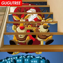 $enCountryForm.capitalKeyWord Australia - Decorate Home 3D Christmas cartoon art wall Stair sticker decoration Decals mural painting Removable Decor Wallpaper G-654