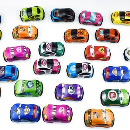 5cm children cartoon Australia - New Arrival 5cm Children Cartoon Model Pvc Toy Cars Pull Back Vehicles Soft Shell Car For Capsule Toys Kid's Gift 100 Pcs lot J190525