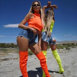 $enCountryForm.capitalKeyWord NZ - 2019 Summer New Sexy Tank Top Women Crop Top High Collar Bustier Vest Tops Solid Sleeveless Short Fluorescent Club Tees Blusas