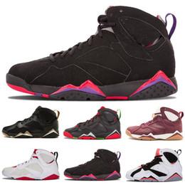 1d3faaea0b3e50 2019 New Jumpman 7 Basketball Shoes Men 7s VII Purple UNC Olympic Panton  Pure Money Nothing Raptor N7 Zapatos Retro Sport Shoe Sneaker