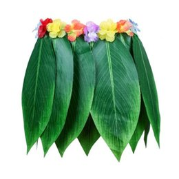 $enCountryForm.capitalKeyWord Australia - Top selling silk-like cloth Hula Skirt Tropical Style Hawaiian Leaves Skirt Summer Party DIY Props For Costume Evening Party
