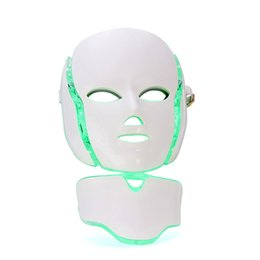 wrinkle products UK - Hot new product led light therapy Skin rejuvenation led neck mask with 7 colors for home use