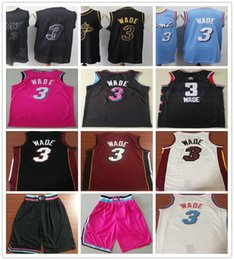 $enCountryForm.capitalKeyWord NZ - Men Youth Kids Stitched Dwyane 3 Wade Jersey Pink Blue White Red Black Color 3 Wade Jerseys Basketball College Sport Shirts NCAA