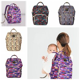 Wholesale 4styles Diaper Bags printed Handbags Mommy Maternity Backpacks Cartoon Waterproof Nappy Backpack Travel Organizer Baby Care bag FFA2181
