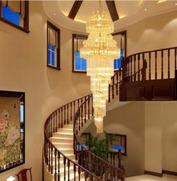 $enCountryForm.capitalKeyWord UK - Modern Crystal Chandeliers Lights Fixture LED Lamps American Golden K9 Crystal Chandelier Hotel Lobby Hall Stair Way Home Inoodr Lighting LF