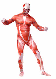 skin tight lycra suits Australia - Attack on Colossal Titan Cosplay Costumes Adult Lycra Spandex Full Zentai Bodysuits Men Muscle Suit Second Skin Tight SuitMX190923
