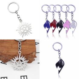 $enCountryForm.capitalKeyWord Australia - Fairy Tail Sign Key Chain Sun Pentagram Keys Buckle Man Women Car Keyring Hollowing Out Alloy Simple Fashion 2 4hf D1