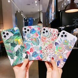 laser max NZ - Hybrid Laser Flower Leaf Soft TPU Case For iPhone 11 Pro Max XS XR X 6 7 8 Samsung Note 10 10+ S10 Plus S20 Ultra A10 A20 A30 A50 A70
