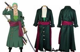 Custom kimono online shopping - One Piece Zoro Two Years Later Green Kimono Uniform Made Cosplay Costume new