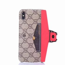 Iphone case snake wallet online shopping - Hot Luxury Phone Case for iPhone X XS XR Max plus plus Metal Snake Buckle Leather Designer Phone Case