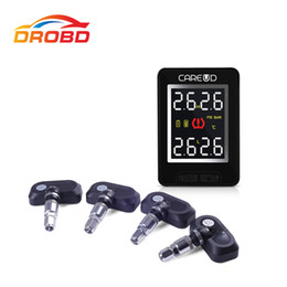 Ford Alarm System Australia - High quality U912 TPMS tire pressure monitoring system With 4 Internal Sensors Car PSI BAR LCD Display For Tire Alarm