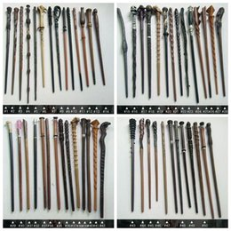 magic wand for kid wholesale Australia - Harry Potter Wand With Gift Box Packing Metal-Core Magic Wand For Kids Cosplay Harry Potter Dumberdor Hermione Magical Wand toys KKA6606
