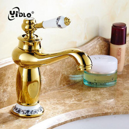 Kitchen Faucet Antiques Australia - Bathroom Antique Tap Basin Faucet Vintage Kitchen Sink Tap Decorative Ceramic Brass Basin Mixer Water Bronze Faucet A15