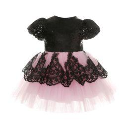 95bd67ebc0abd Flower Kids Girl Dress Birthday Wedding Formal Pageant Party Tutu Cute Lace Back  Big Bow Clothes Dresses Girls 6M-6T