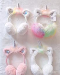 $enCountryForm.capitalKeyWord Canada - Child Ear Muffs Fashion Winter Lovely Thicken Plush unicorn Earmuffs New fleece knitting Solid Color Kids Ear Warmer Earmuffs
