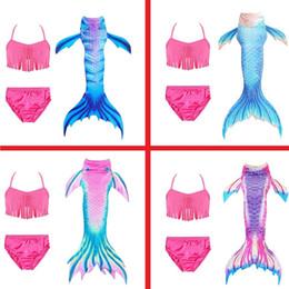 Pink green bra online shopping - Girls Kids New Grass Skirt Bra Mermaid Tail Swimming Costume Beach Swimsuit Bikini Halloween Dress Cosplay Costume