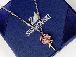 Necklaces Pendants Australia - 2019 the latest ladies lively, charming and charming summer must, flamingos necklace fashion beauty Pendant necklace